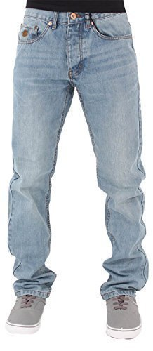Rocawear Mens Boys Double R Star Relaxed Fit Hip Hop Jeans Is Money G Time SWB (W30 - L33, Stonewash Blue) by Rocawear