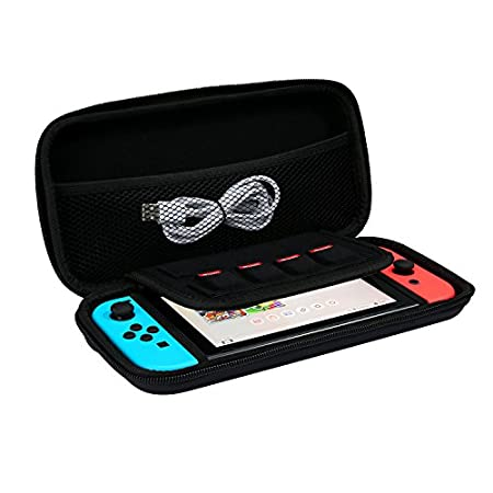 Nintendo Switch Carrying case, Protective Storage bag Hard Travel Case for Nintendo Switch Console (Black)