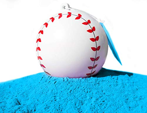 J&M Gender Reveal Baseball for Baby Showers and Reveal Parties - 100% All Natural Holi Powder (Blue) ()