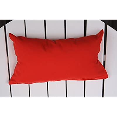 Furniture Barn USA Outdoor Adirondack Chair Head Pillow in Sundown Material- Bright Red : Garden & Outdoor