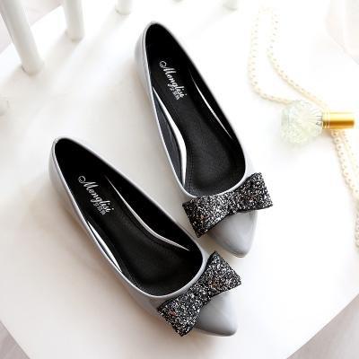 &huo Zapatos de los zapatos del solo, zapatos bajos planos de la cucharada, zapatos dulces del arco 43