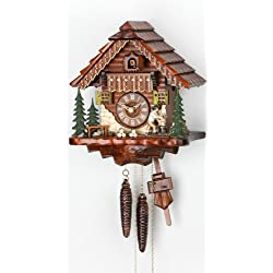 Cuckoo Clock Black Forest house with moving wood chopper KA 1679