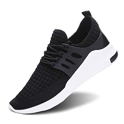 Wander G Men Women Running Sneakers Ultra Lightweight Flyknit Shoes Breathable Fashion Casual Athletic Shoes for Walking (39,Black) ()