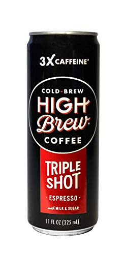 High Brew Cold Brew Coffee Espresso Triple Shot, 11 Ounce Can (12 Count) by High Brew Cold Brew Coffee (Image #1)