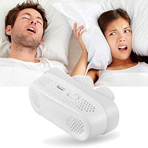 Upgraded Anti Snoring Devices, Snoring Solution Nasal Dilator Better Than CPAP Devices System & Strips, Electronic USB Rechargeable Nose Vents Air Purifier Stop Snore & Give You a Good Night's Sleep