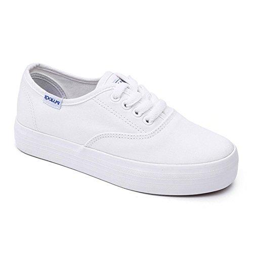 Cozy Maker(C&M)スニーカー ローカット スリッポン カジュアルシューズ 運動靴 レースアップシューズ レディース 女の子 軽量 旅行 ホワイト 大きいサイズ 人気 日常着用 歩きやすい