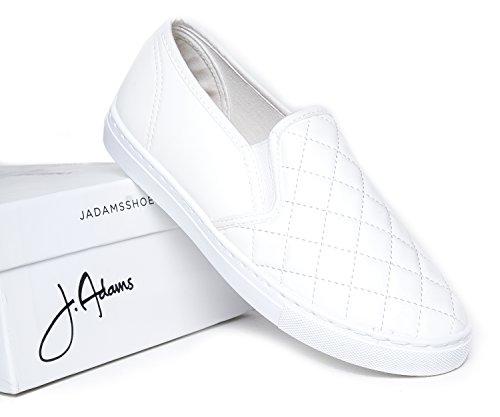 ... J. Adams Rund Tå Slip På Sneaker - Bedårende Polstret Glitter Sko - Enkel  Hverdag ...