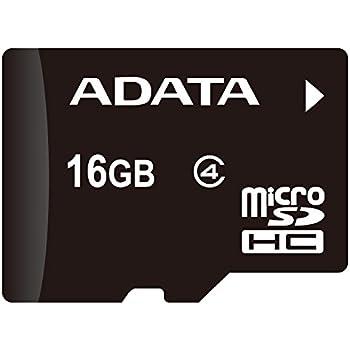 ADATA AUSDH16GCL4-RA1 Micro SDHC Card Class 4 with Adaptor, 16GB