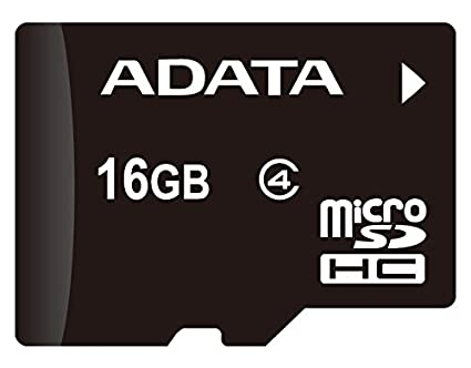 c2be33089 ADATA 16GB microSDHC Class 4 Memory Card with Adaptor (AUSDH16GCL4-RA1)