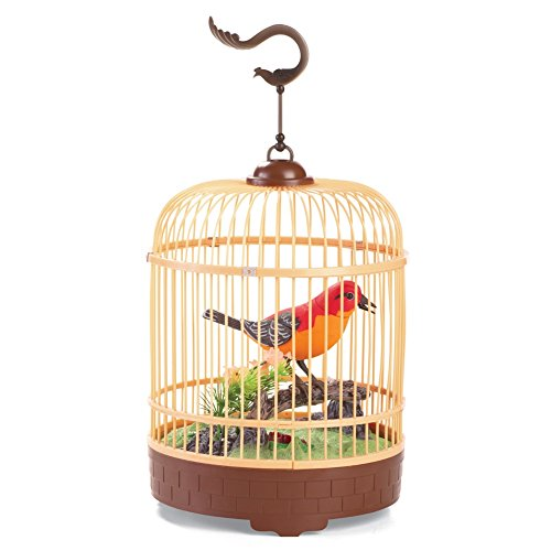 Sound Activated Singing Bird In Cage