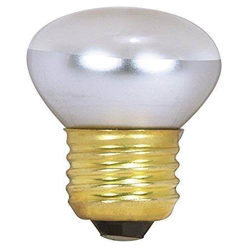 Satco 40R14 Incandescent Reflector, 40W E26 R14 Stubby, Clear Bulb