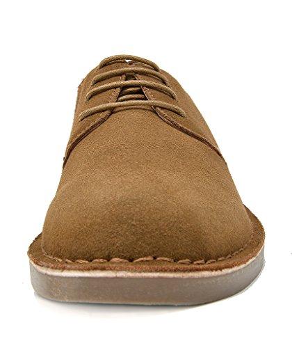 Bruno Marc New York Zapatos De Cordones De Ante Con Cordones De Cuero Para Hombre Tan