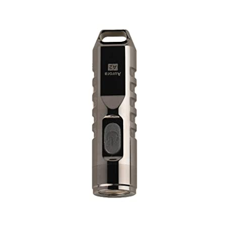 RovyVon Aurora 550 Lumens CREE XP-G3 S5 LED Keychain Rechargeable EDC Flashlight,Stainless