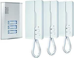 ELRO Smartwares IB63SW - Sistema intercomunicador de puerta para 3 apartamentos