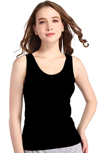 Vislivin Womens Supersoft Camisole Stretch Casual Tank Tops Black/Gray/Wine Red S by Vislivin (Image #2)