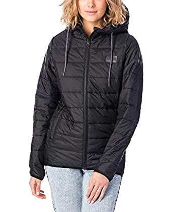 Rip Curl Women's The Search Puffer Jacket, Black, 10