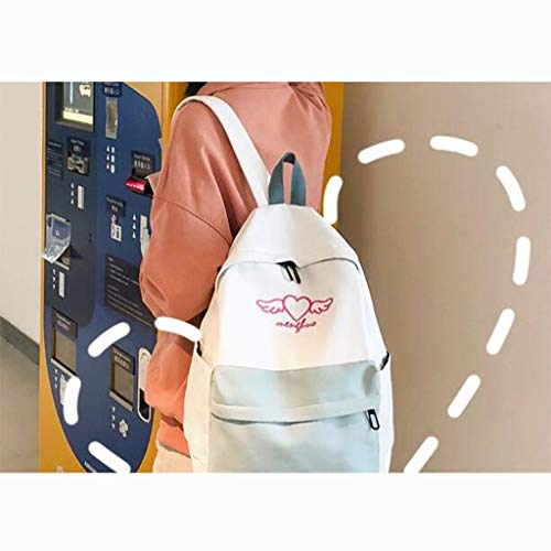 Da colore Scuola Media Dimensioni Della Femmina Ragazza Nero 28x11x39cm Borsa Bianca Studente Zaino Zaino Scuola Qxjpz zqP81Ixa