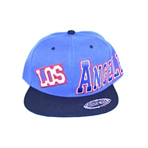 Light Blue crown LOS ANGELES embroidered blue LOS in white with black visor