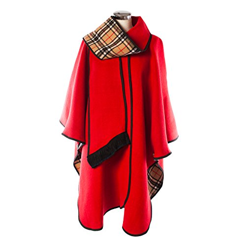 Heritage of Scotland - Poncho -  donna rosso