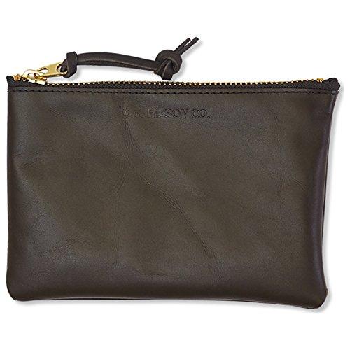 Filson Medium Leather Pouch - Moss by Filson