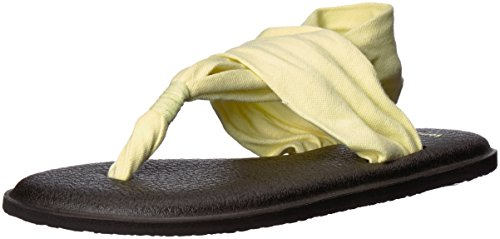 Pear Yoga Sanuk 2 Sling Sandals Prints Yellow g78w40z