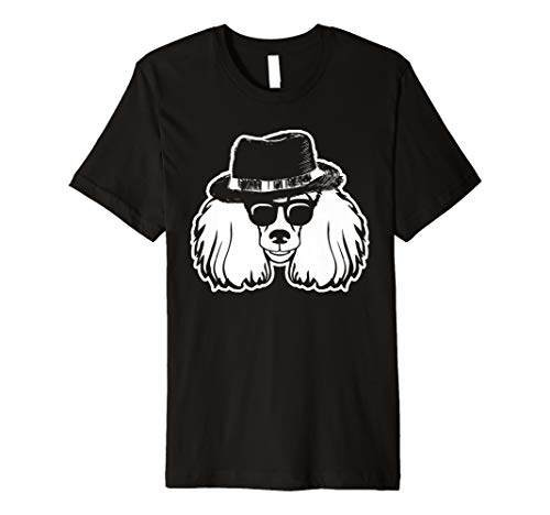 Cool Poodle Dog with Sunglasses and Hat Poodles Puppy Gift Premium T-Shirt