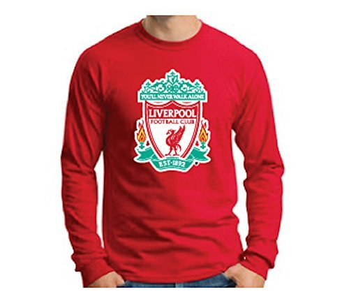 Official Liverpool FC Crest Red Long-Sleeve T-Shirt (Large)