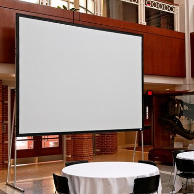 Ultimate Folding Projection Screen with Extra Heavy-Duty Legs Surface Finish: Matt White, Viewing Area: 72