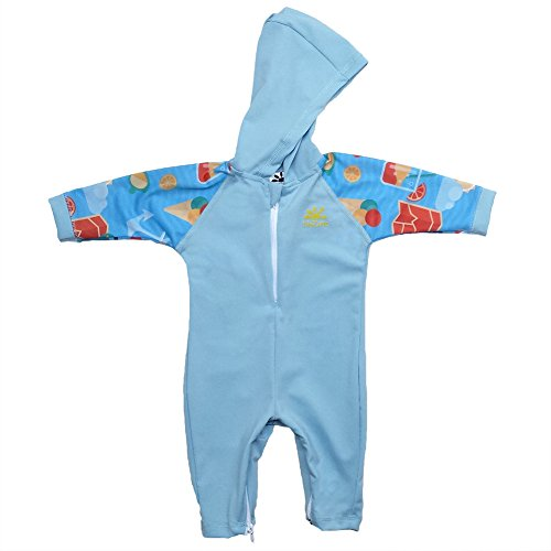 Kailua Baby Sun Protective UPF 50+ One-Piece Swimsuit by Nozone in Spa/Arthur, 12-18 Months