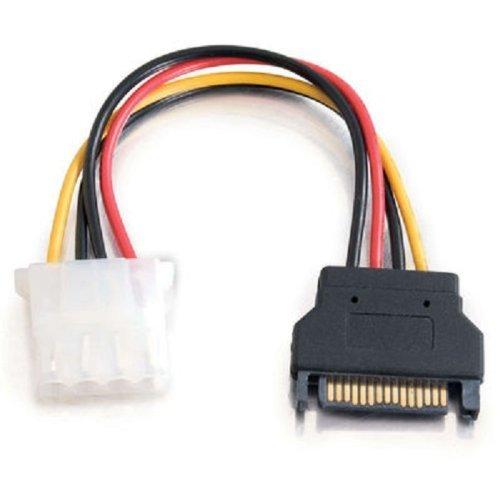 NSI LK-13814 15-pin SATA Male To 4-pin Molex Female Power Adapter Cable - 15 Pin SATA Male To 4 Pin Female Power Cable For IDE Hard Drive - 6inches (15cm)