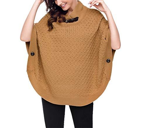 a a orlo a a manica Maglioni maglia NOHOPE coste scialle a kimono a maglia tre quarti maniche top invernale manica da collo donna con pipistrello zqZqH