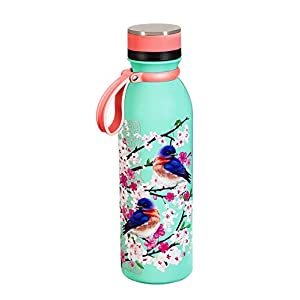 Cypress Home Birds and Blossoms Stainless Steel Water Bottle, 20 ounces