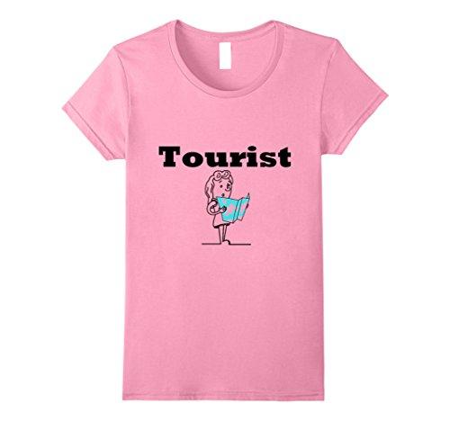 Kids Tourist Costume (Womens OFFICIAL Tourist Shirt For Men, Women,Teens,Kids,Boys, Girls Small Pink)