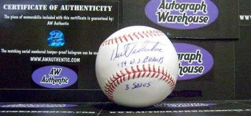Kent Tekulve autographed baseball (Pittsburgh Pirates 1979 World Series Champions) inscribed 79 WS Champs 3 saves AW Certificate of Authenticity Hologram - Champions Pirates World Series Pittsburgh