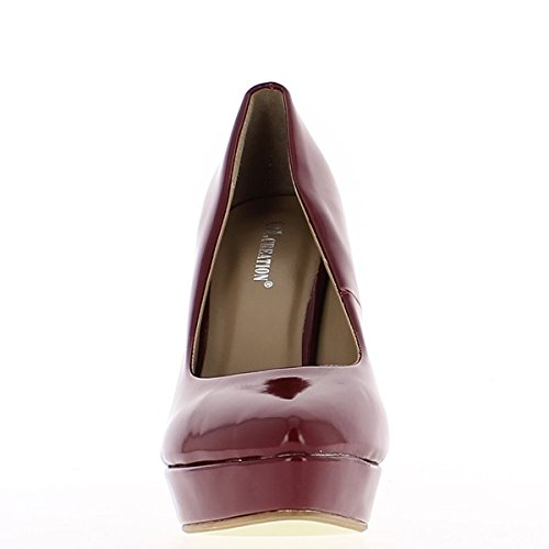 Bordeaux sharp end heel 12cm and platform pumps wyPoX