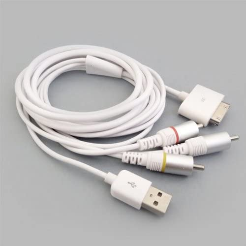Cable AV Audio Video RCA TV USB para iPhone, iPad, iPod: Amazon.es ...