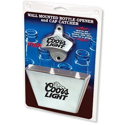 Coors Light Bottle Opener / Contrivance Metal Cap Catcher Set