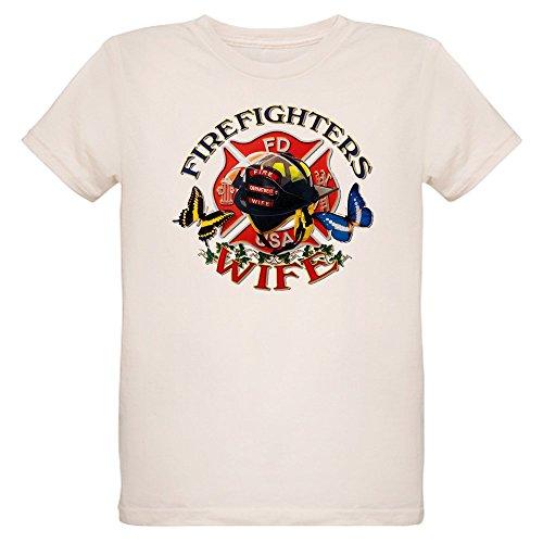 - Royal Lion Organic Kids T-Shirt Firefighters Wife Butterflies - Medium (10 Yrs)
