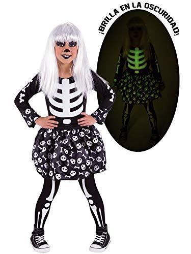 DISBACANAL Disfraz Esqueleto para niña - -, 3-4 años: Amazon.es ...