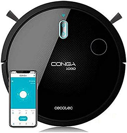 Cecotec Robot Aspirador Conga Serie 1090 Connected. 1400 Pa, Compatible con Alexa y Google Home, Aspira, Barre, Friega y Pasa la Mopa, Cepillo Especial Mascotas, Muro Magnético: 221.36: Amazon.es: Hogar