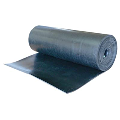 "Nitrile - Commercial Grade Black - 60A Rubber Sheet - Buna Rubber - 3/8"" Thic..."