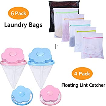 JClover Laundry Bag - Mesh Laundry Wash Bag with Premium Zipper for Blouse, Hosiery, Stocking, Underwear, Bra and Lingerie (Bra Wash Bags) (LINT Laundry Bags)