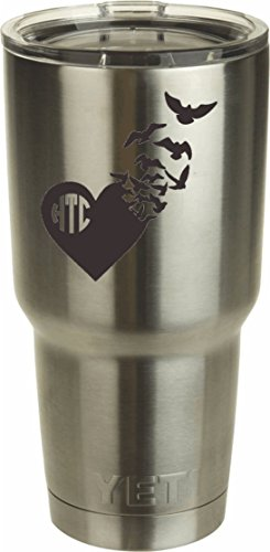 Heart Birds Monogram DECAL Tumbler product image