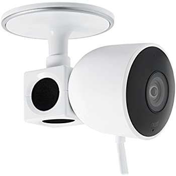 2 in 1 Magnetic White Wall, Ceiling, Mount for Nest Cam Indoor– Place Your Camera Effortlessly onto Any Magnetic Surfaces, Alternatively Attach the Mounting Plate onto Walls and Ceiling by Wasserstein