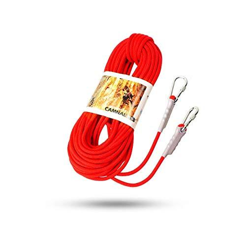 クライミングハーネス ポリプロピレン9.5ミリメートル屋外の安全ロープ、耐摩耗性と耐久性に優れた救助ロッククライミングロープ、オレンジ登山救助、滑り止め防水屋外生存機器 (Color : 9.5mm-40m) 9.5mm-40m