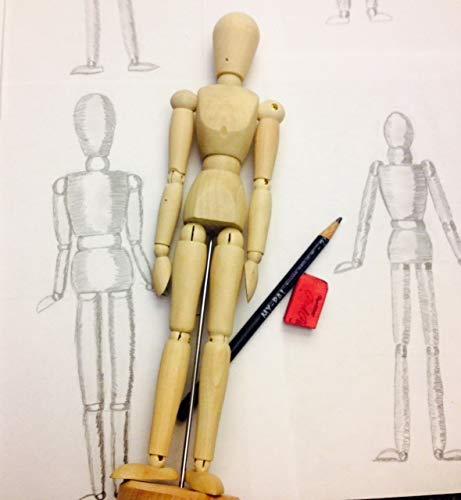 Manichino da posa con supporto Manichino di Legno per Artista per Disegno corpo Manichino di Legno 30.48 cm Kurtzy 2 Pcs Manichino Burattini Manichini Di Legno