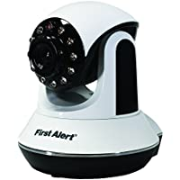 First Alert DWIP-720 HD Internet Protocol Wi-Fi Indoor Security Camera (White/Black)