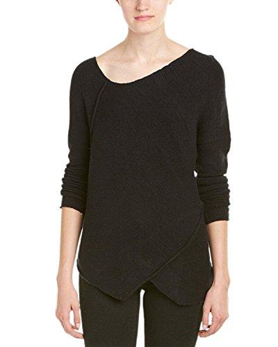 Free People Womens Wool Blend Asymmetrical Pullover Sweater Black (Asymmetrical Wool Sweater)