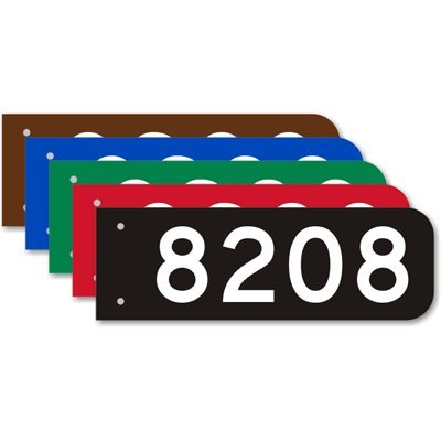 Fire Address Sign (Add Own House, 2-Sided Engineer Grade Reflective Aluminum Street Sign, 18' x 6'