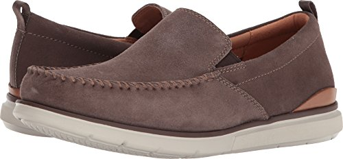 Clarks Mens Edgewood Stap Taupe Suede